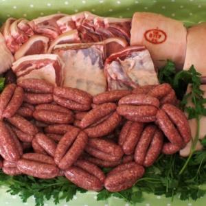 Free range outdoor grown Saddleback Pork (Half pig) + sausages